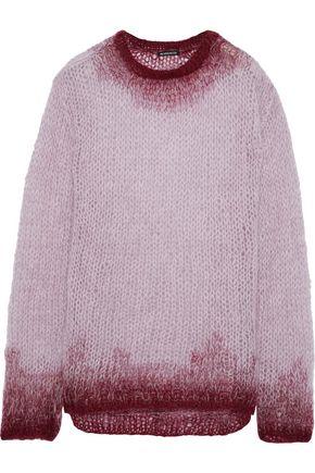 ANN DEMEULEMEESTER Rosen dégradé open-knit mohair-blend sweater