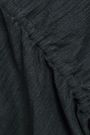 DKNY Ruched mélange cotton-blend cardigan