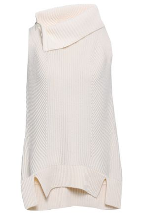 ELIE TAHARI Ribbed wool and cashmere-blend sweater