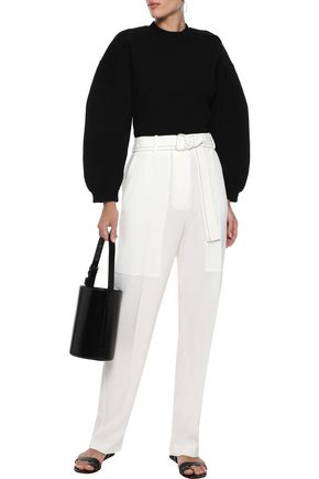 Tibi Woman Wool-Blend Sweater Black