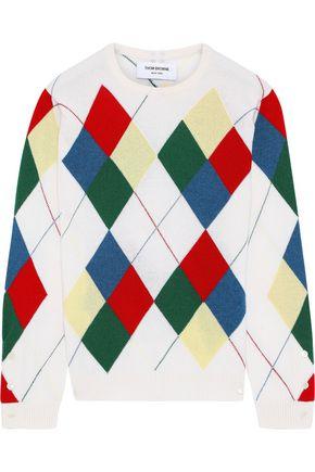 THOM BROWNE Argyle intarsia cashmere sweater