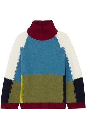 SEE BY CHLOÉ Color-block wool turtleneck sweater