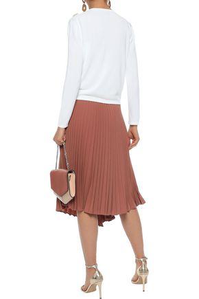 CAROLINA HERRERA Embellished stretch-knit cardigan