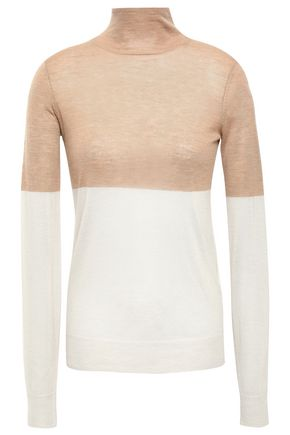 JOSEPH Two-tone cashmere turtleneck sweater