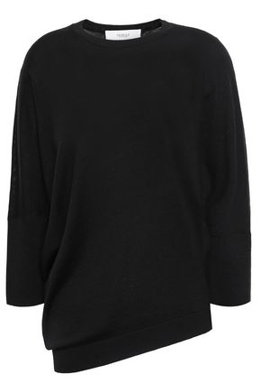 PRINGLE OF SCOTLAND Asymmetric merino wool sweater