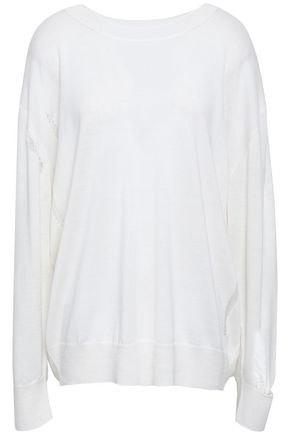 IRO Distressed wool and silk-blend sweater