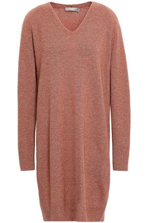 VINCE. Mélange wool and cashmere-blend mini dress