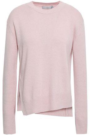 VINCE. Asymmetric mélange cashmere sweater