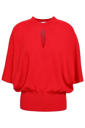 LANVIN Cutout stretch-wool top