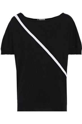LANVIN Intarsia stretch-wool top
