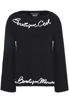 BOUTIQUE MOSCHINO Braid-trimmed knitted sweater