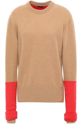 JOSEPH Two-tone ribbed wool-blend sweater