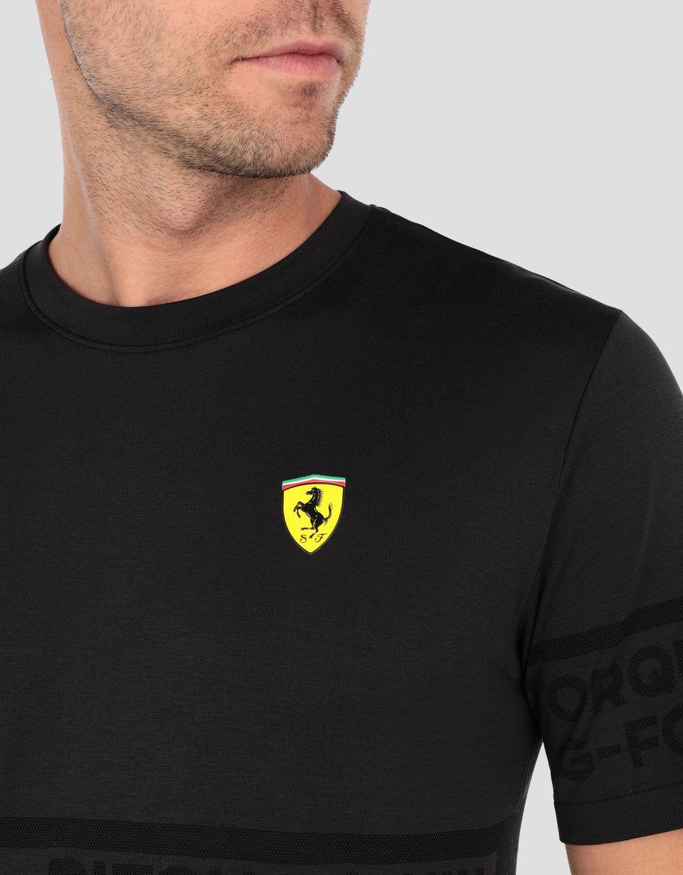 Scuderia Ferrari Online Store - Men's Scuderia Ferrari evoKNIT T-shirt - Short Sleeve T-Shirts
