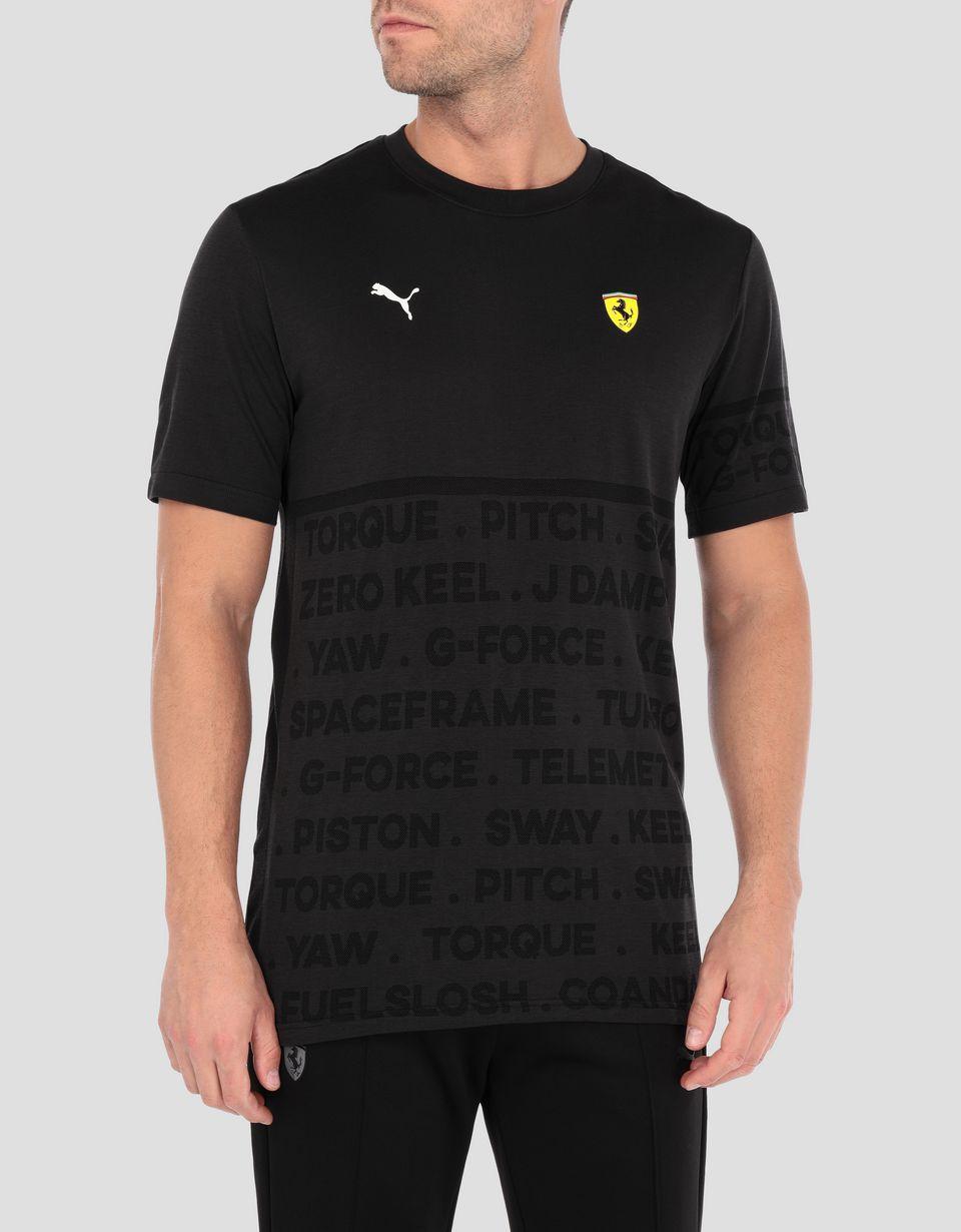 Scuderia Ferrari Online Store - Men's evoKNIT Scuderia Ferrari T-shirt - Short Sleeve T-Shirts