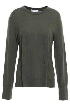 J.W.ANDERSON Pleated merino wool sweater