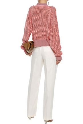 JIL SANDER Open-knit wool and cashmere-blend sweater