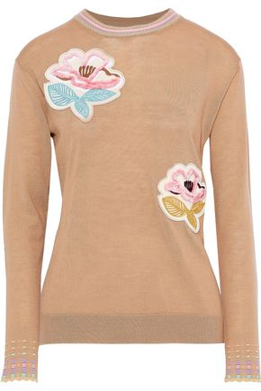 PETER PILOTTO Floral-appliquéd wool sweater