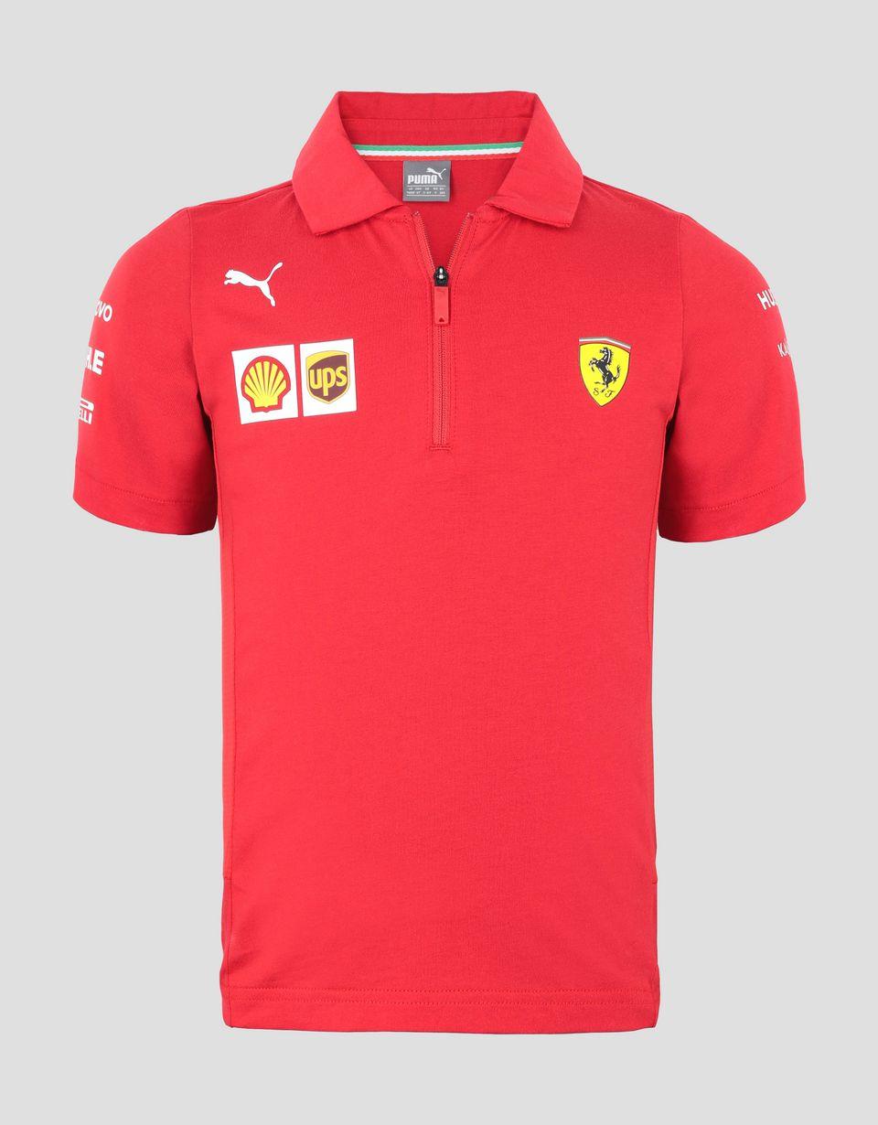 Scuderia Ferrari Online Store - Poloshirt Scuderia Ferrari Replica für Jungen 2019 - Kurzärmelige Poloshirts