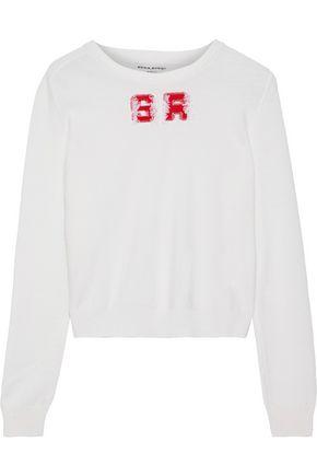 SONIA RYKIEL Frayed intarsia wool sweater