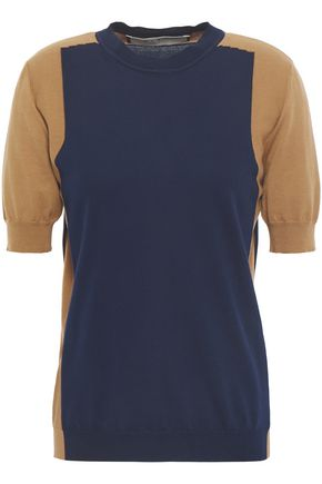 MARNI Two-tone cotton top
