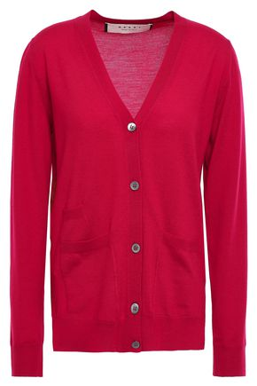 MARNI Wool and silk-blend cardigan