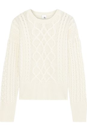 IRIS & INK Cable-knit cashmere sweater