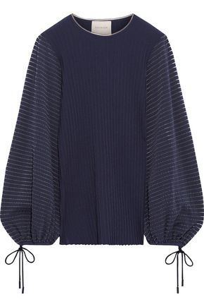 ROKSANDA Saida stretch-jersey and ribbed-knit sweater