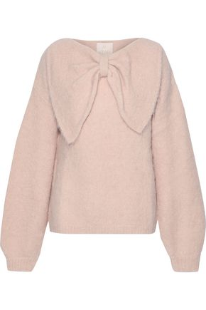 byTIMO Bow-embellished brushed alpaca-blend sweater