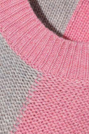 IRIS & INK Thora color-block intarsia-knit sweater