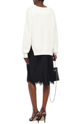 ALEXANDERWANG.T Ribbed cotton-blend sweater