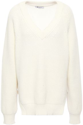 ALEXANDERWANG.T Ribbed cotton-blend sweater