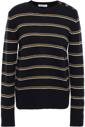 EQUIPMENT Striped wool and cashmere-blend sweater