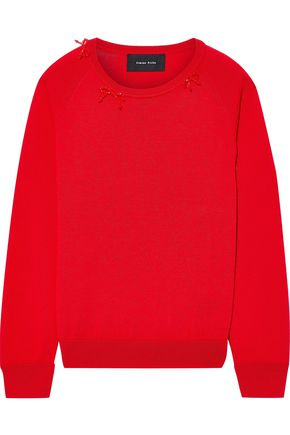 SIMONE ROCHA Bead-embellished wool, silk and cashmere-blend sweater