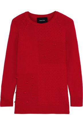SIMONE ROCHA Paneled wool and cashmere-blend sweater