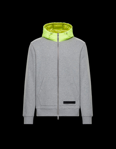 CARDIGAN Light grey Category HOODED SWEATSHIRTS Man