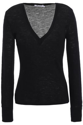 ALEXANDERWANG.T Ribbed wool top