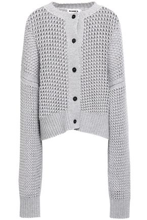 JIL SANDER Open-knit wool and cashmere-blend cardigan