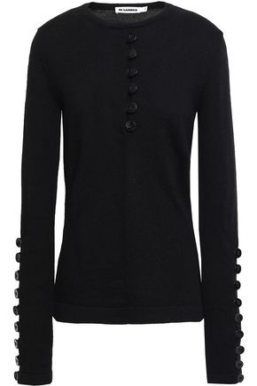 JIL SANDER Button-detailed wool sweater