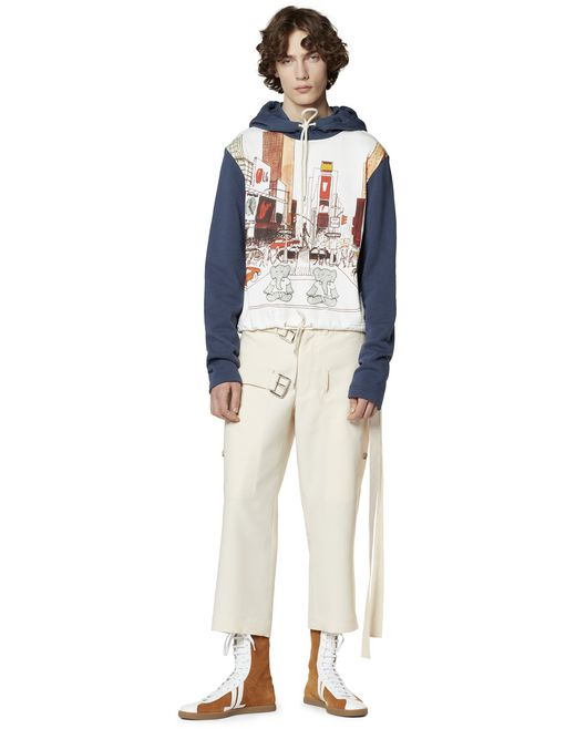 PRINTED HOODIE IN COTTON - Lanvin