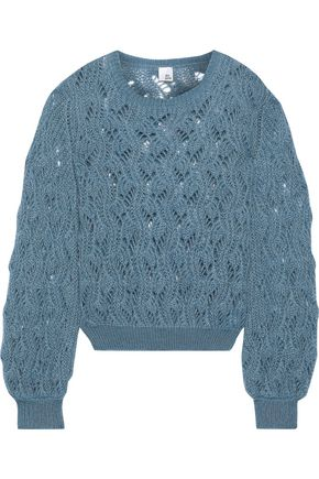 IRIS & INK Kiira open-knit mohair-blend sweater