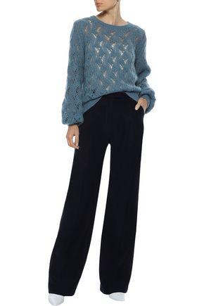 IRIS & INK Kiira open-knit mohair-blend sweater