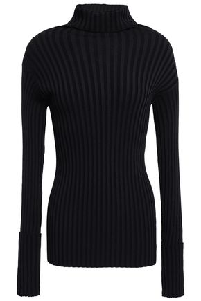 VALENTINO Ribbed-knit turtleneck top
