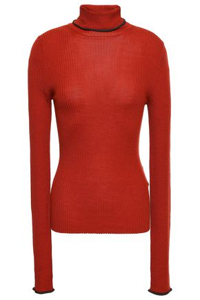 ACNE STUDIOS Ribbed merino wool turtleneck sweater