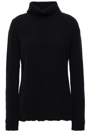 VALENTINO Ribbed wool and cashmere-blend turtleneck sweater