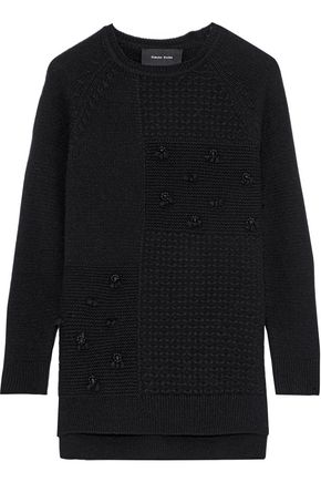 SIMONE ROCHA Bead-embellished wool and cashmere-blend sweater