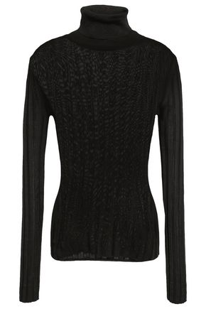 ACNE STUDIOS Ribbed-knit turtleneck top