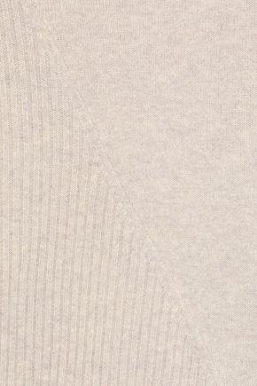 IRIS & INK アシンメトリー パネルデザイン メランジウール セーター