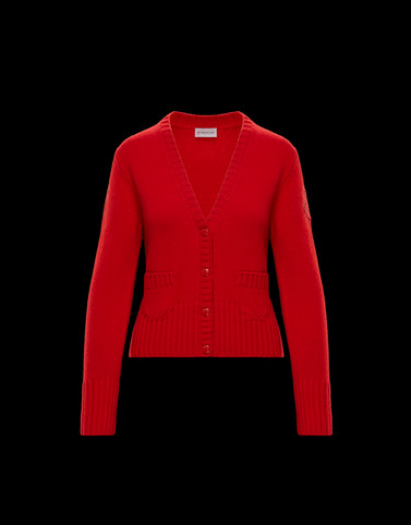 CARDIGAN Red Knitwear Woman
