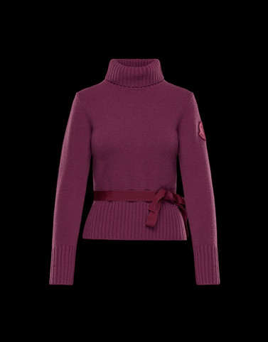 HIGH NECK Mauve Knitwear