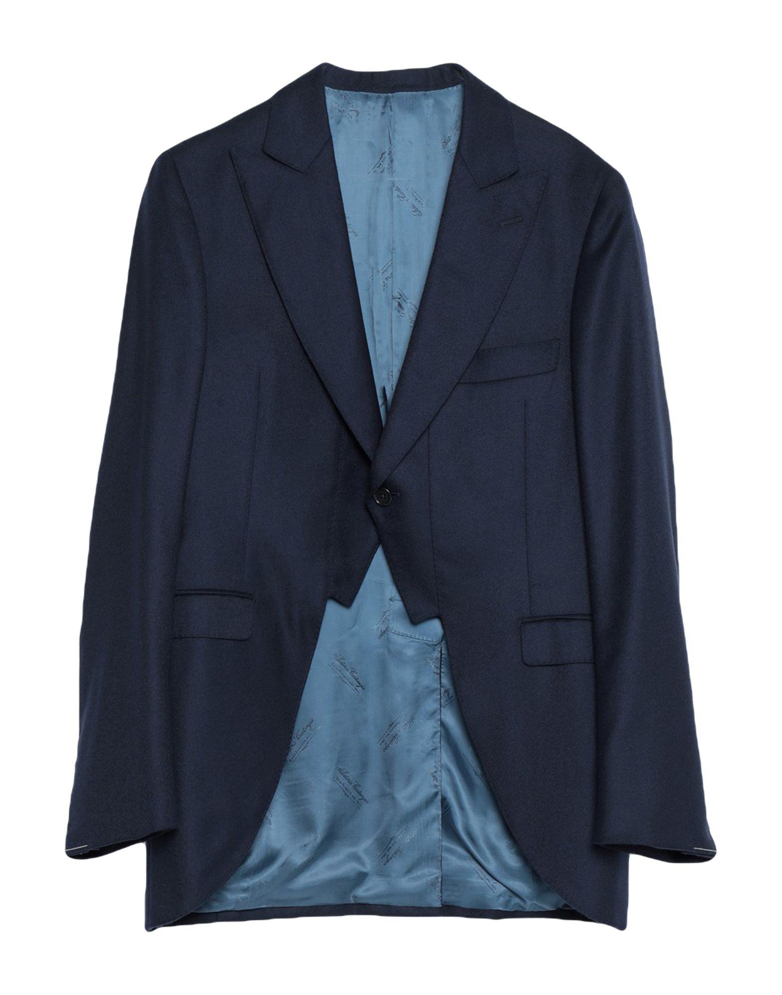 《送料無料》SARTORIA CASTANGIA メンズ テーラードジャケット ダークブルー 50 ウール 100%
